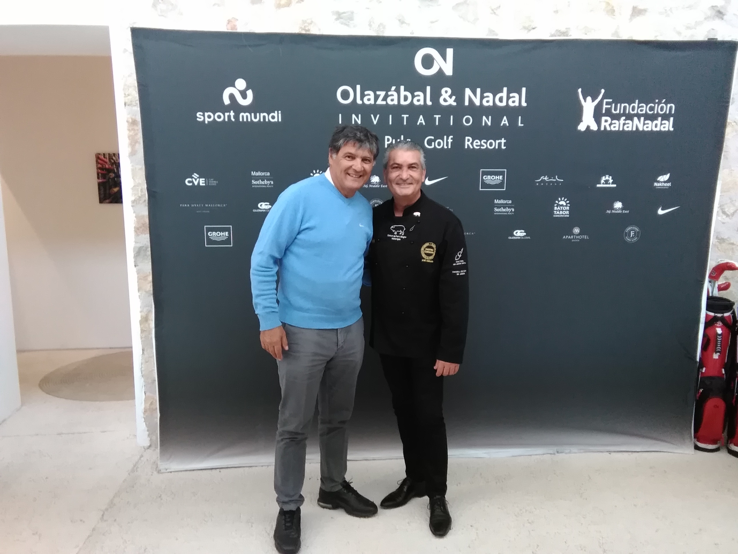 Toni Nadal con Jose Abellan