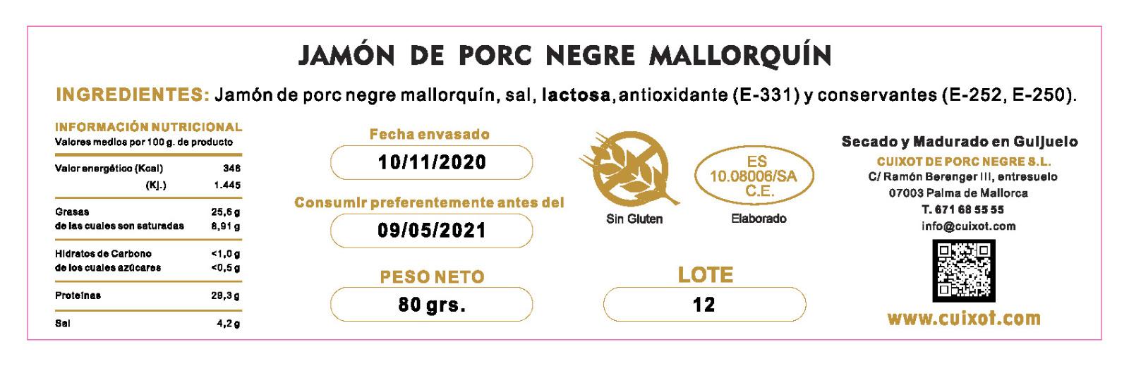 JAMÓN DE PORC NEGRE